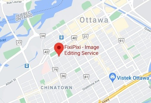 fixipixi-photo editing service Canada map