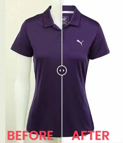 ecommerce photo editing before after