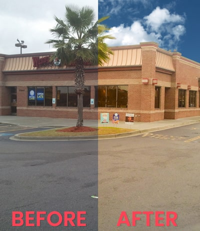 real estate photo editing before after